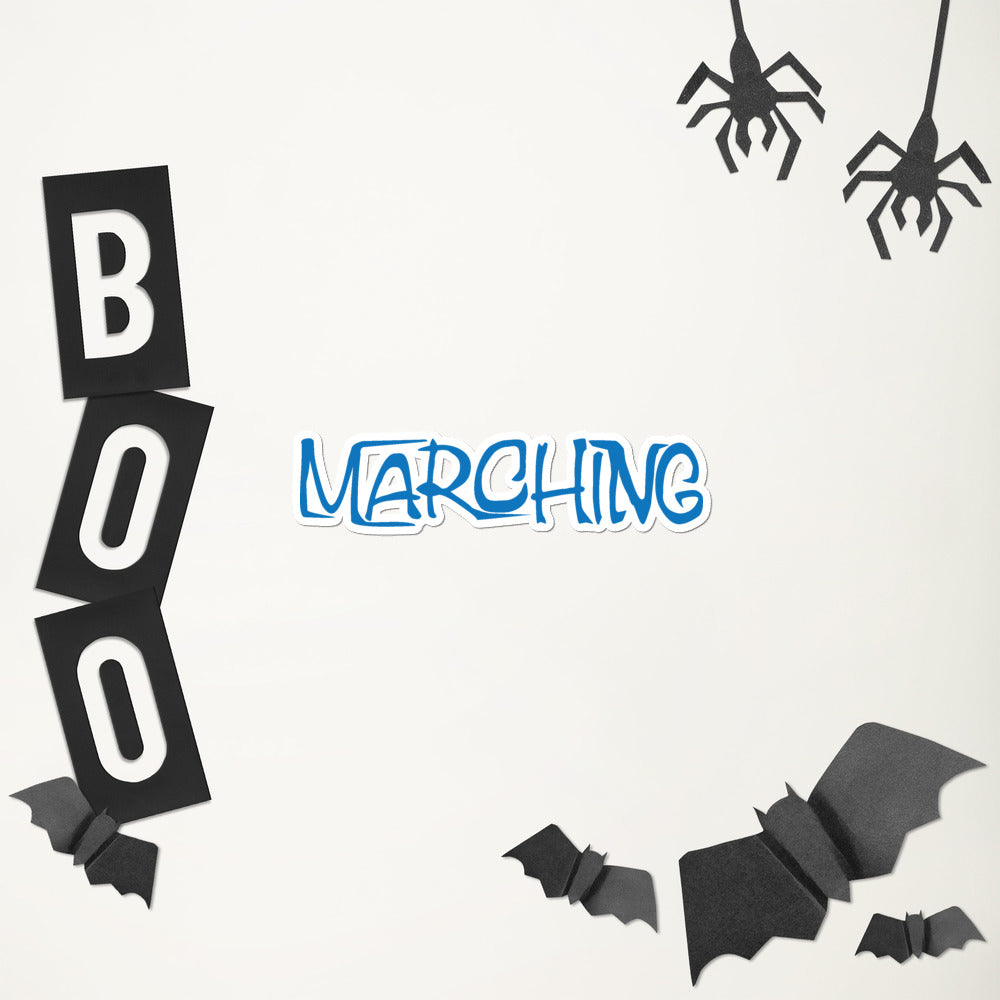 Marching Cartoon Bubble-Free Stickers-Marching Arts Merchandise-Marching Arts Merchandise