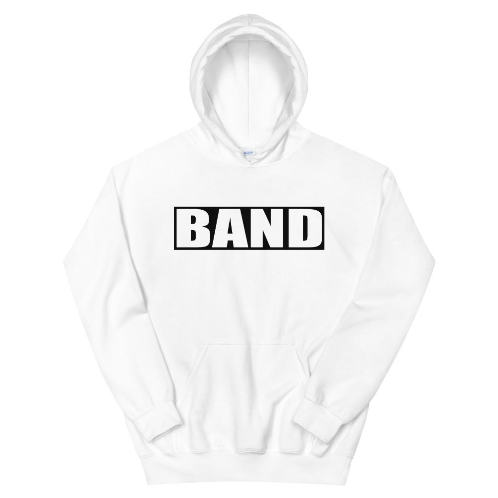 BAND Band Marching Band Unisex Hoodie-Hoodie-Marching Arts Merchandise-White-S-Marching Arts Merchandise