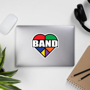 Stained Band Heart Bubble-Free Stickers-Marching Arts Merchandise-Marching Arts Merchandise