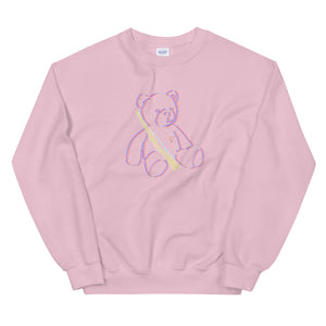 Teddy Rifle Color Guard Unisex Sweatshirt-Marching Arts Merchandise-Light Pink-S-Marching Arts Merchandise