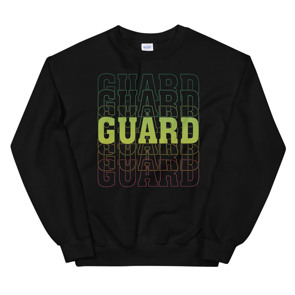 Color Guard On Color Guard Unisex Sweatshirt-Marching Arts Merchandise-Black-S-Marching Arts Merchandise