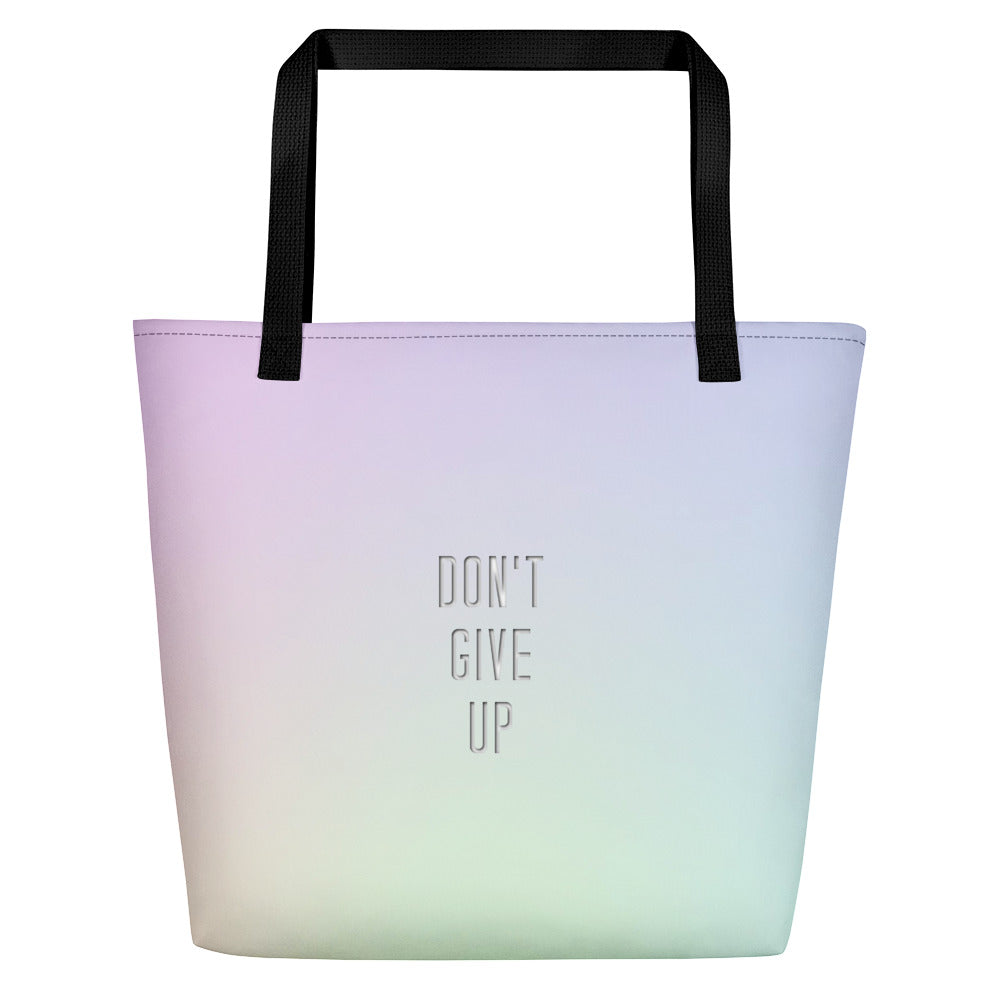 Don't Give Up Beach Bag-Marching Arts Merchandise-Marching Arts Merchandise
