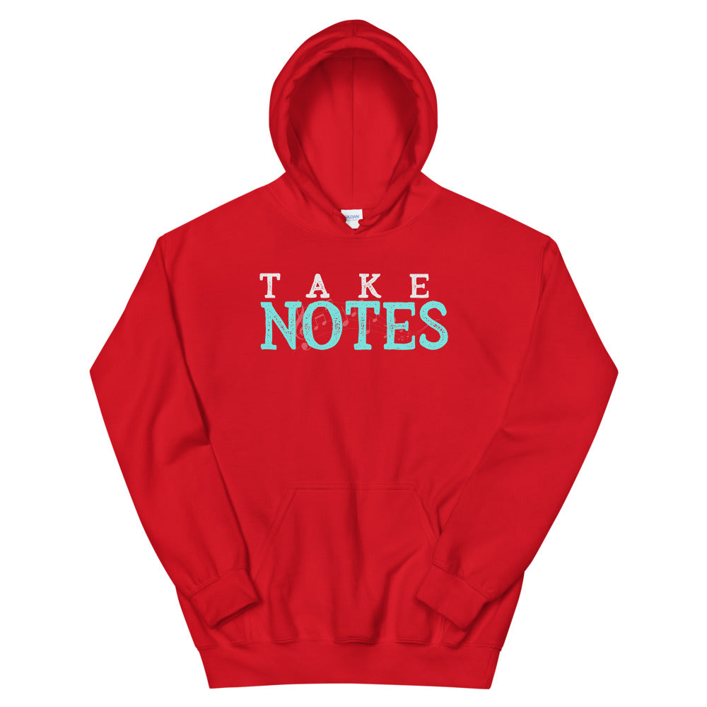 Take Notes Marching Band Unisex Hoodie-Marching Arts Merchandise-Red-S-Marching Arts Merchandise