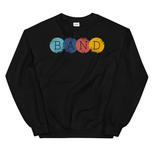 Band Circles Marching Band Unisex Sweatshirt-Marching Arts Merchandise-Black-S-Marching Arts Merchandise
