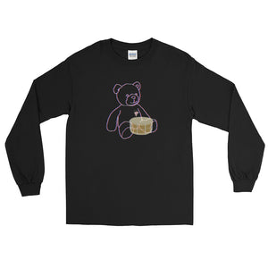 Neon Teddy Snare Long Sleeve Shirt-Marching Arts Merchandise-Black-S-Marching Arts Merchandise