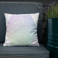 Don't Give Up Premium Pillow - Marching Arts Merchandise -  - Marching Arts Merchandise - Marching Arts Merchandise - band percussion color guard clothing accessories home goods