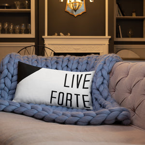 Live Forte Premium Pillow-Marching Arts Merchandise-20×12-Marching Arts Merchandise