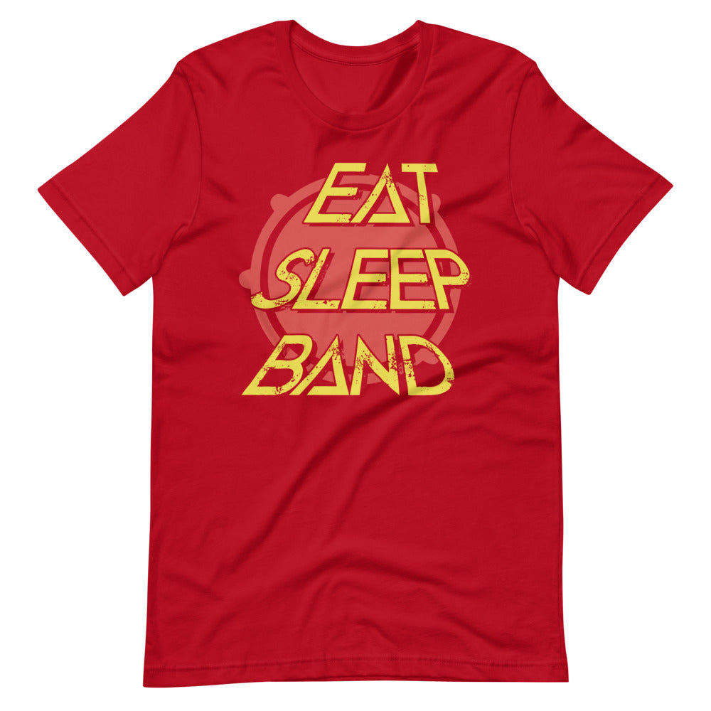 Eat Sleep Band Marching Band Short-Sleeve Unisex T-Shirt-Marching Arts Merchandise-Red-S-Marching Arts Merchandise