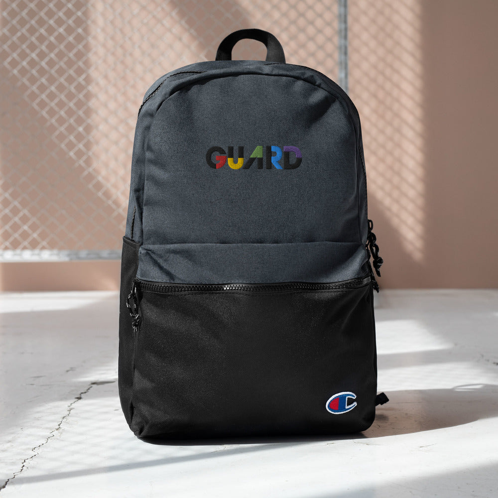 Color Block Guard Embroidered Champion Backpack - Marching Arts Merchandise