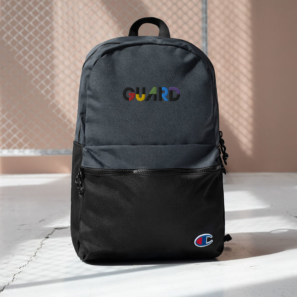 Color Block Guard Embroidered Champion Backpack - Marching Arts Merchandise -  - Marching Arts Merchandise - Marching Arts Merchandise - band percussion color guard clothing accessories home goods