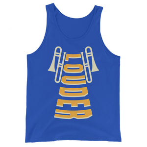Louder Trombone Marching Band Unisex Tank Top-Marching Arts Merchandise-True Royal-XS-Marching Arts Merchandise