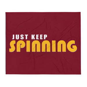 Just Keep Spinning Throw Blanket-Marching Arts Merchandise-Marching Arts Merchandise
