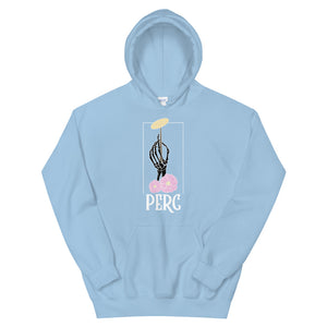 Skeleton Cymbal Percussion Unisex Hoodie-Marching Arts Merchandise-Light Blue-S-Marching Arts Merchandise