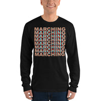 3-D Marching Unisex Long Sleeve Shirt - Marching Arts Merchandise -  - Marching Arts Merchandise - Marching Arts Merchandise - band percussion color guard clothing accessories home goods