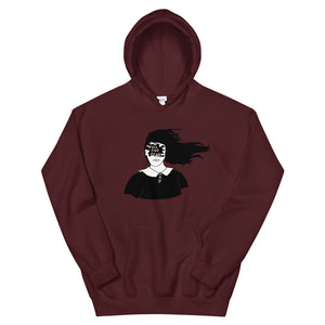 Toss Your Fears Girl Color Guard Unisex Hoodie-Marching Arts Merchandise-Maroon-S-Marching Arts Merchandise