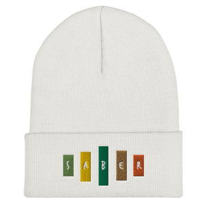 Retro Saber Cuffed Beanie-Marching Arts Merchandise-White-Marching Arts Merchandise