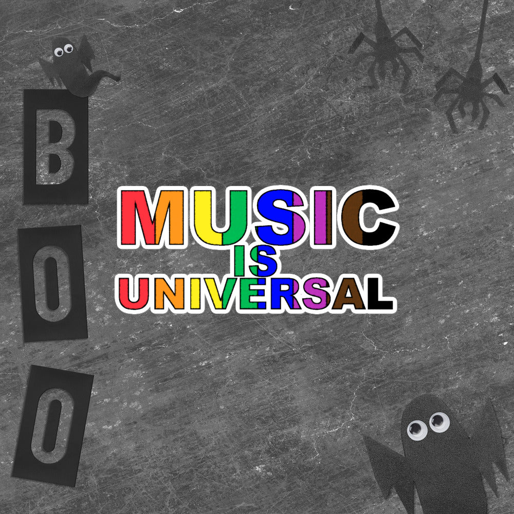 Music is Universal Bubble-Free Stickers-Marching Arts Merchandise-Marching Arts Merchandise