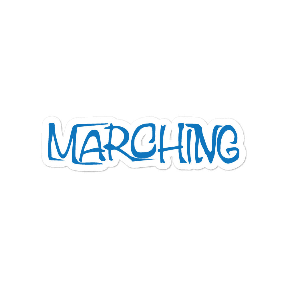 Marching Cartoon Bubble-Free Stickers-Marching Arts Merchandise-4x4-Marching Arts Merchandise