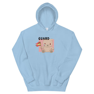 Teddy Flag Color Guard Unisex Hoodie-Marching Arts Merchandise-Light Blue-S-Marching Arts Merchandise