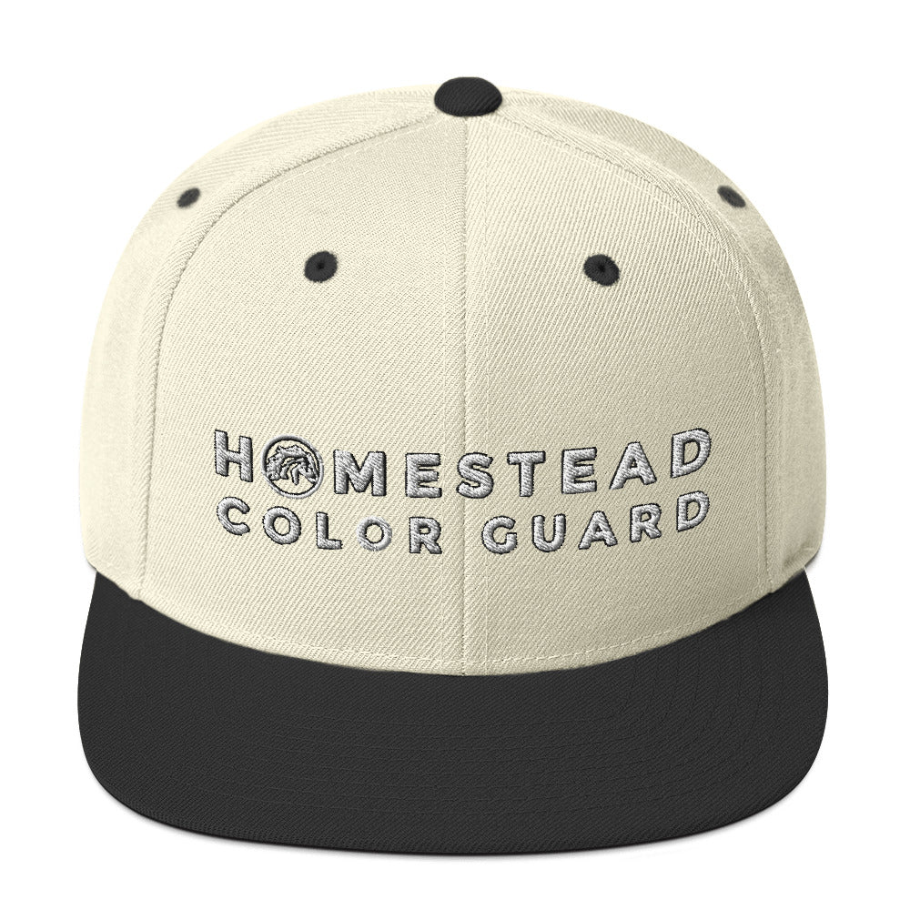 Homestead Color Guard Snapback Hat-Marching Arts Merchandise-Natural/ Black-Marching Arts Merchandise
