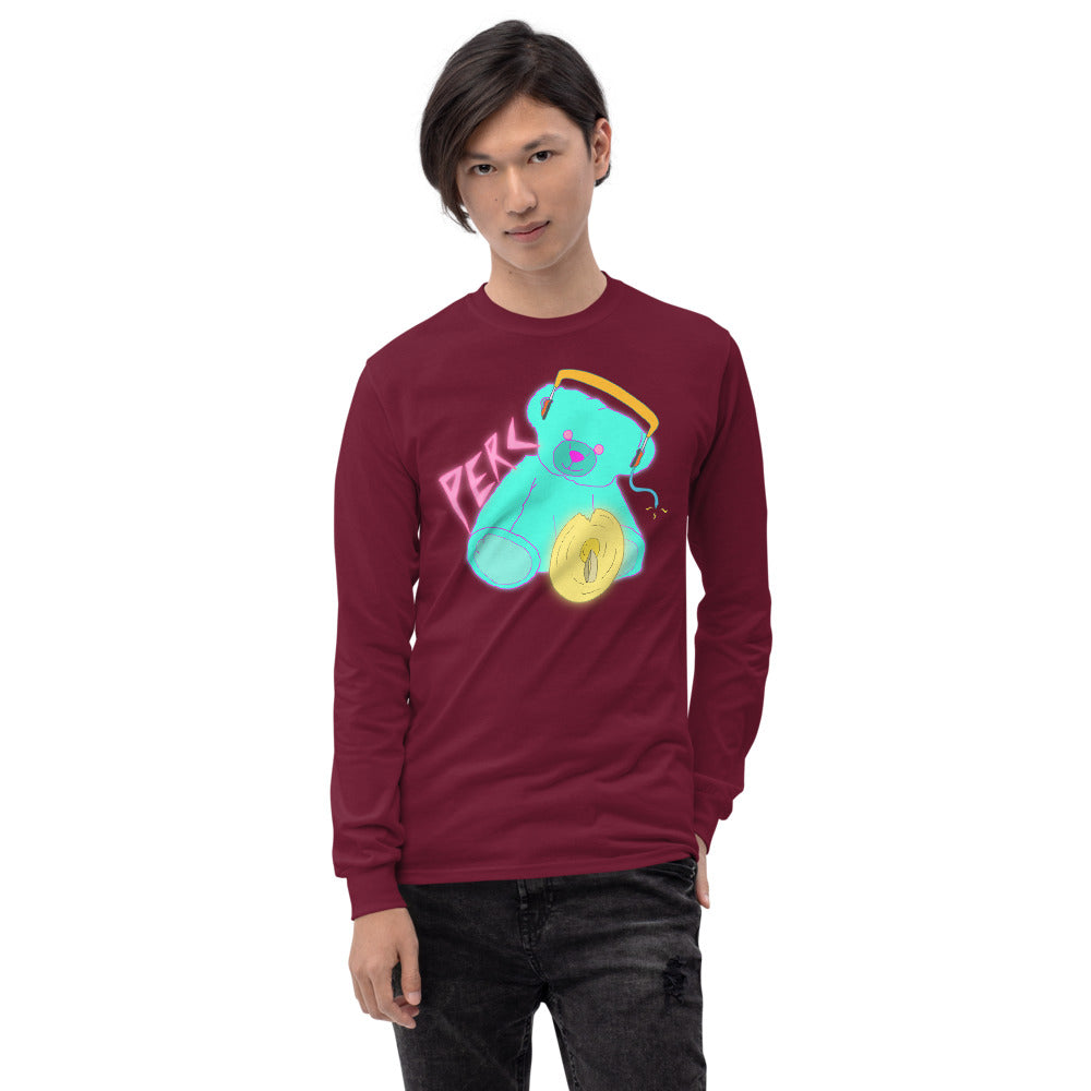 Neon Teddy Cymbal Percussion Long Sleeve Shirt-Marching Arts Merchandise-Marching Arts Merchandise