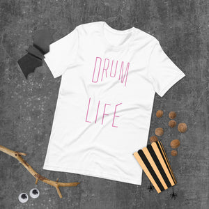 Drum Life Percussion Short-Sleeve Unisex T-Shirt-Marching Arts Merchandise-Marching Arts Merchandise