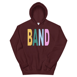 Texture Band Unisex Hoodie-Marching Arts Merchandise-Maroon-S-Marching Arts Merchandise