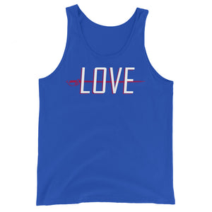 Love Color Guard Unisex Tank Top-Marching Arts Merchandise-True Royal-XS-Marching Arts Merchandise