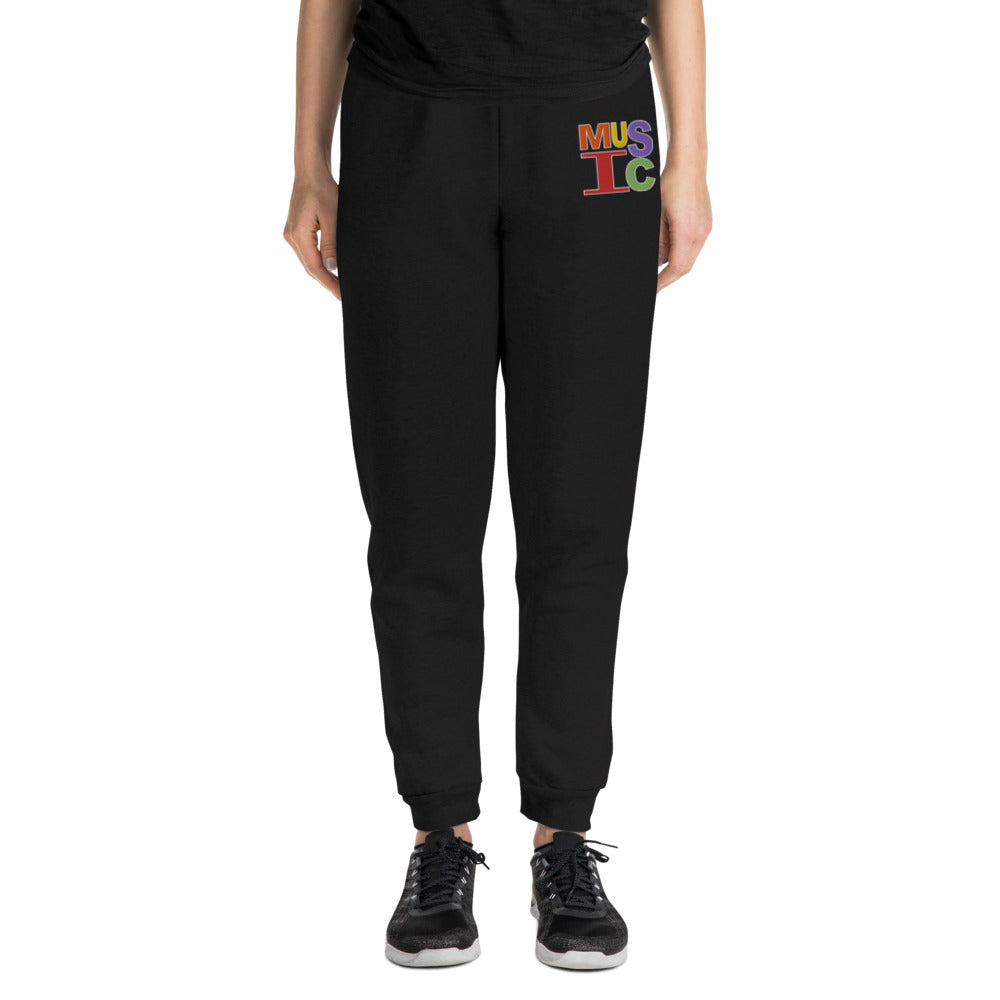 Retro Music Embroidered Unisex Joggers-Marching Arts Merchandise-Marching Arts Merchandise