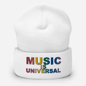 Music is Universal Cuffed Beanie-Marching Arts Merchandise-Marching Arts Merchandise