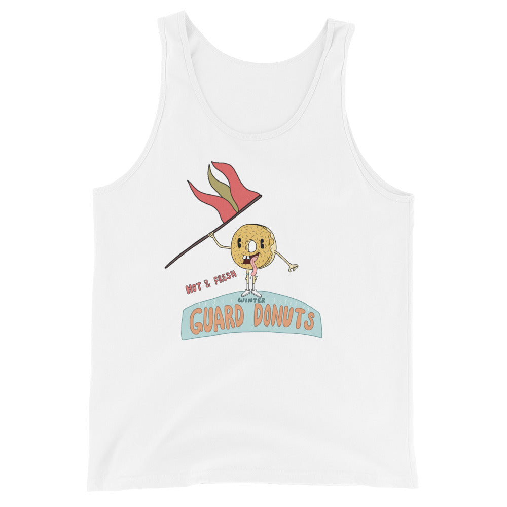 Flag Donuts Color Guard Unisex Tank Top-Marching Arts Merchandise-White-XS-Marching Arts Merchandise