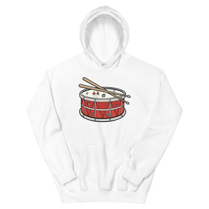 Angry Snare Percussion Unisex Hoodie-Marching Arts Merchandise-White-S-Marching Arts Merchandise