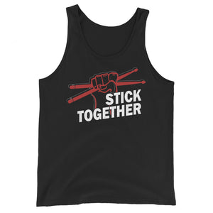 Stick Together Percussion Unisex Tank Top-Marching Arts Merchandise-Black-XS-Marching Arts Merchandise