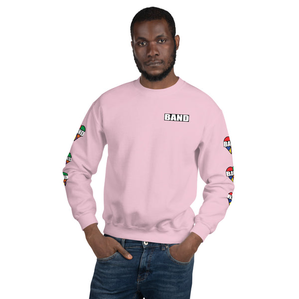 Stained Band Heart Unisex Sweatshirt - Marching Arts Merchandise -  - Marching Arts Merchandise - Marching Arts Merchandise - band percussion color guard clothing accessories home goods