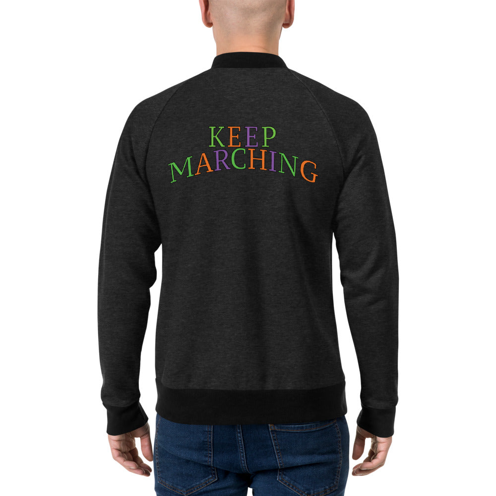 Keep Marching Bomber Jacket-Marching Arts Merchandise-Marching Arts Merchandise