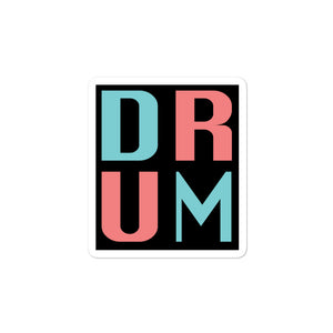 DRUM Bubble-Free Stickers-Marching Arts Merchandise-3x3-Marching Arts Merchandise