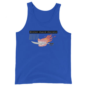 Winter Guard Saber Color Guard Unisex Tank Top-Marching Arts Merchandise-True Royal-XS-Marching Arts Merchandise