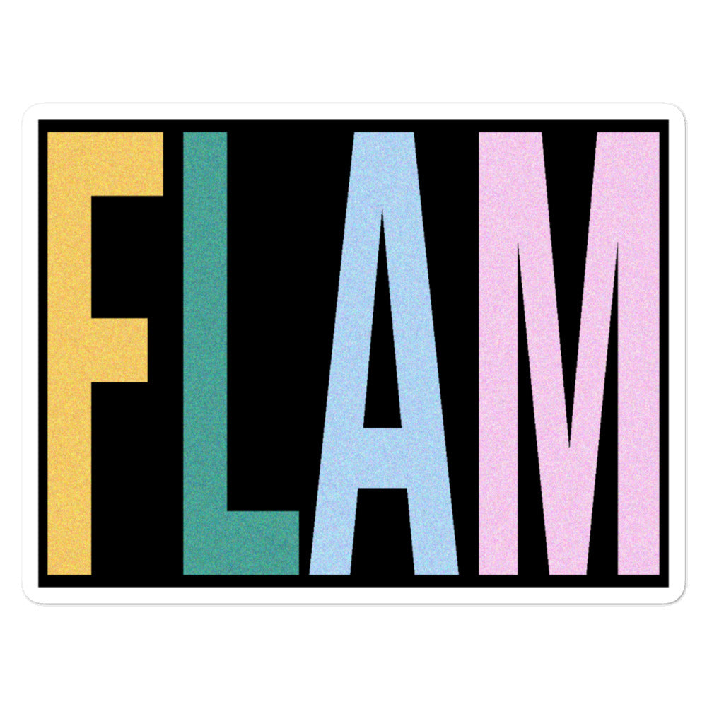 FLAM Bubble-Free Stickers-Marching Arts Merchandise-5.5x5.5-Marching Arts Merchandise