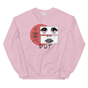Anime Dut Percussion Unisex Sweatshirt-Marching Arts Merchandise-Light Pink-S-Marching Arts Merchandise