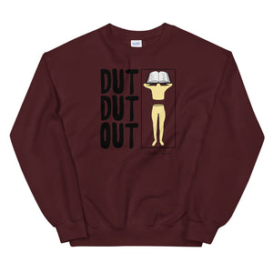 Love Dut Dut Out Color Guard Unisex Sweatshirt-Marching Arts Merchandise-Maroon-S-Marching Arts Merchandise
