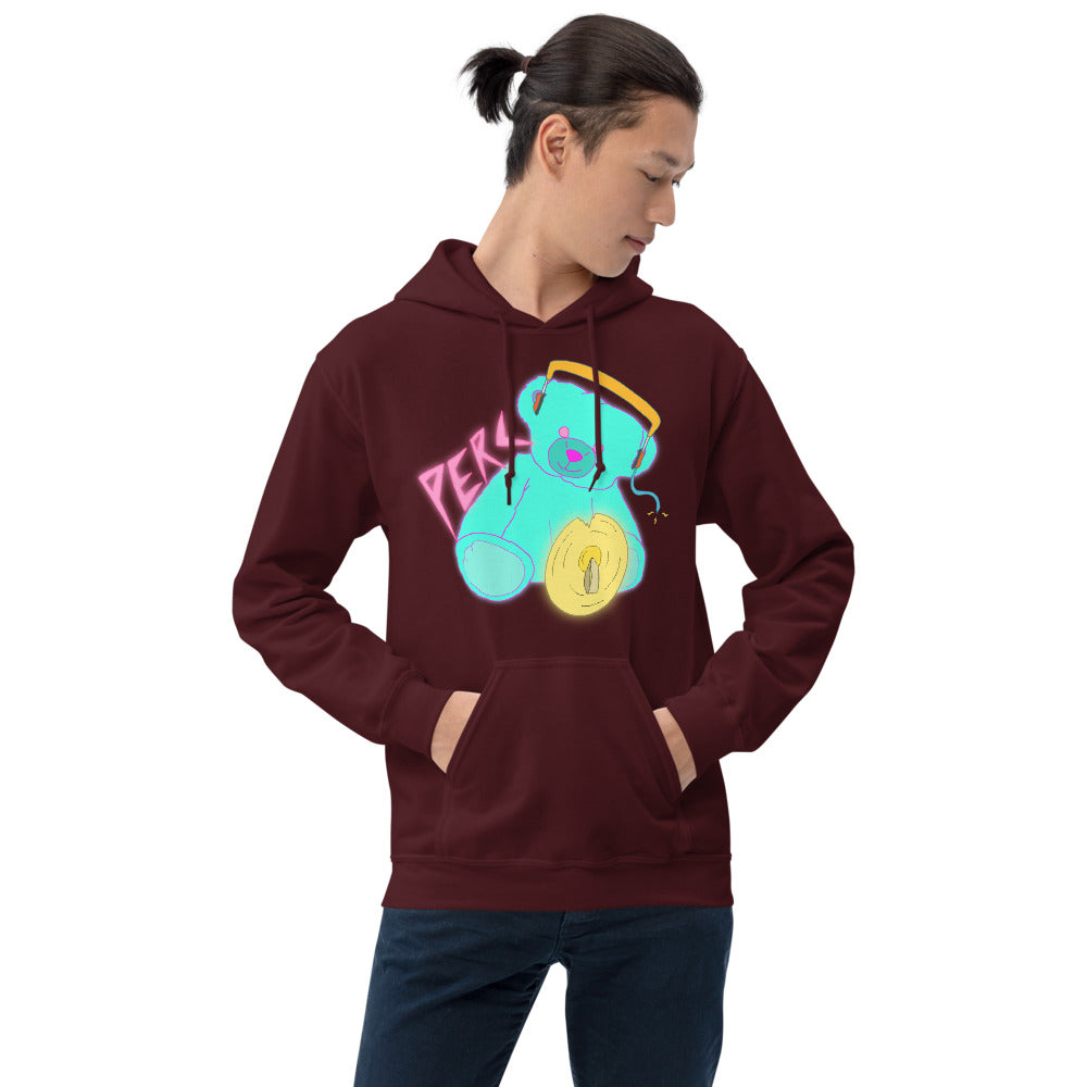 Neon Teddy Cymbal Percussion Unisex Hoodie-Marching Arts Merchandise-Marching Arts Merchandise