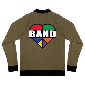 Stained Band Heart Bomber Jacket-Marching Arts Merchandise-Heather Military Green-S-Marching Arts Merchandise