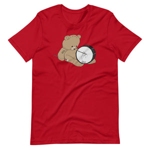 Teddy Bass Percussion Short-Sleeve Unisex T-Shirt-Marching Arts Merchandise-Red-S-Marching Arts Merchandise