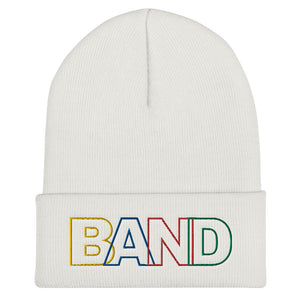 Basic Band Marching Band Cuffed Beanie-Beanie-Marching Arts Merchandise-White-Marching Arts Merchandise