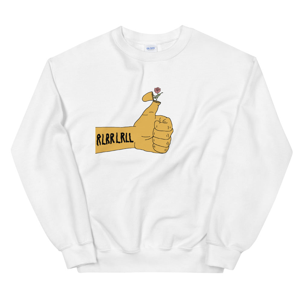 RLRR Flower Percussion Unisex Sweatshirt-Marching Arts Merchandise-White-S-Marching Arts Merchandise