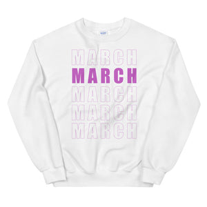 March Trumpet Marching Band Unisex Sweatshirt-Marching Arts Merchandise-White-S-Marching Arts Merchandise