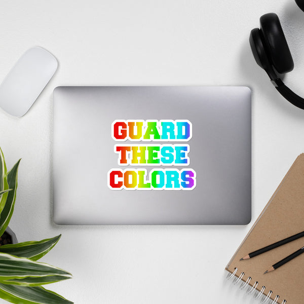 Guard These Colors Bubble-free stickers - Marching Arts Merchandise -  - Marching Arts Merchandise - Marching Arts Merchandise - band percussion color guard clothing accessories home goods