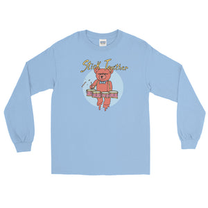 Teddy Tenor Percussion Long Sleeve Shirt-Marching Arts Merchandise-Light Blue-S-Marching Arts Merchandise