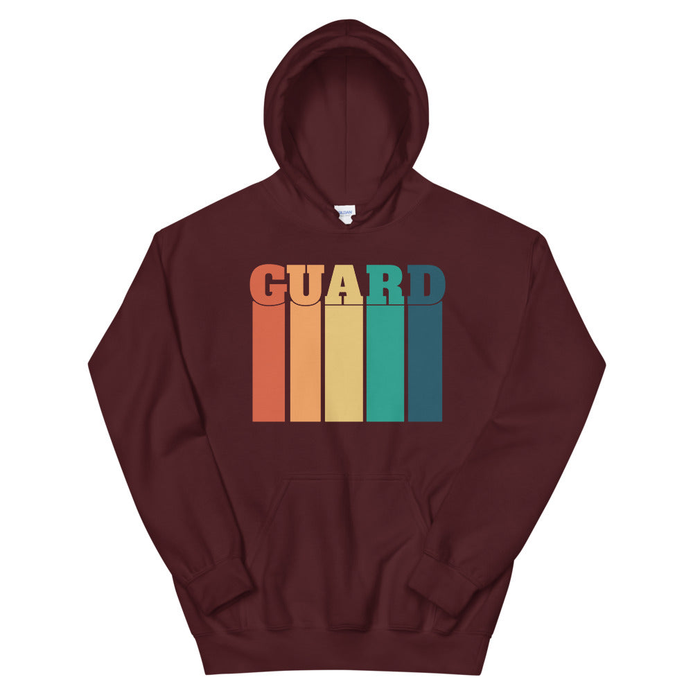 70s Color Guard Unisex Hoodie-Marching Arts Merchandise-Maroon-S-Marching Arts Merchandise
