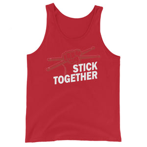 Stick Together Percussion Unisex Tank Top-Marching Arts Merchandise-Red-XS-Marching Arts Merchandise